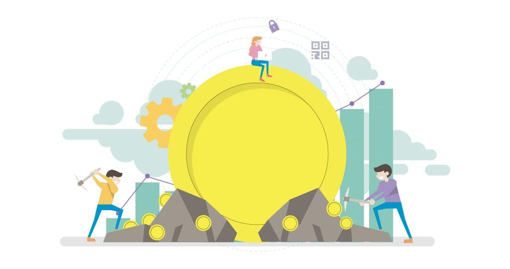 blockchain gamification Miners: il Token