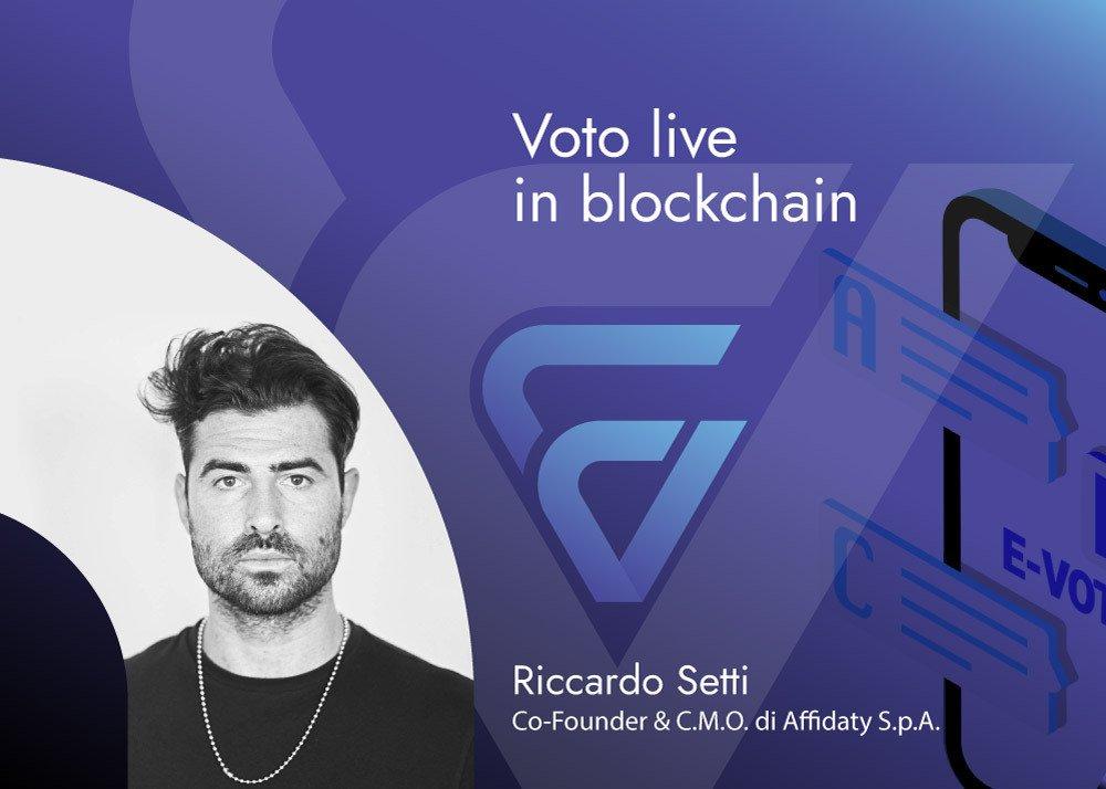 E-Vote di Affidaty - voto live in blockchain - voto in blockchain